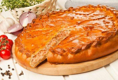 пирог с рисом рецепт с фото
