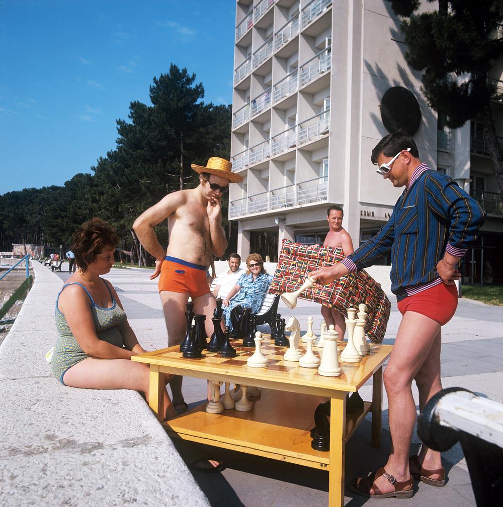Пицунда. Шахмат.  1973 год