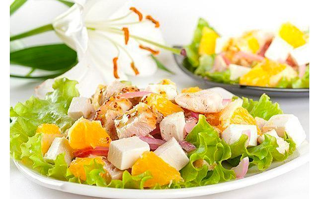 Салат из курицы апельсинов яблок