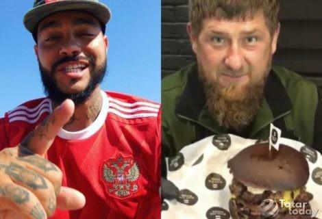 Тимати белән Чечня президенты бургер кыздырып халыкны сыйлый [видео]