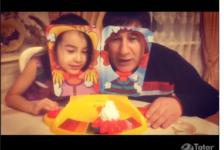 Җәвит Шакиров оныгының йөзенә торт сылый [видео]